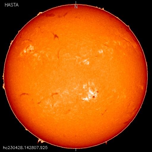 Imagen on-Line, Telescopio H-Alpha ubicado en el Observatorio Carlos U. Cesco, El Leoncito San Juan